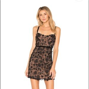 For Love and Lemons Beatrice Strappy Mini Dress